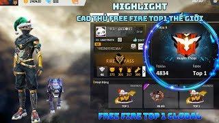 Garena Free Fire   Hightlight Cao thủ TOP 1 thế giới bắn Free fire - Free Fire Top1 Global