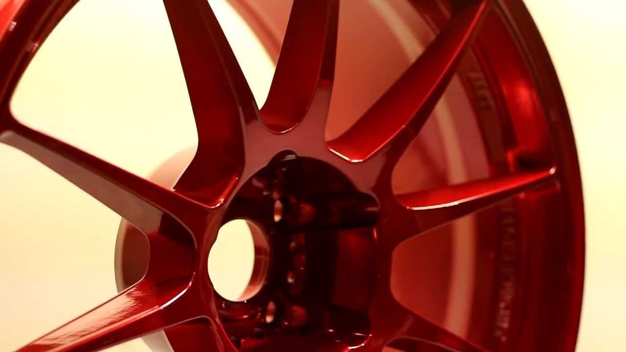 Enkei Wheels In Candy Red Powder Coating Youtube