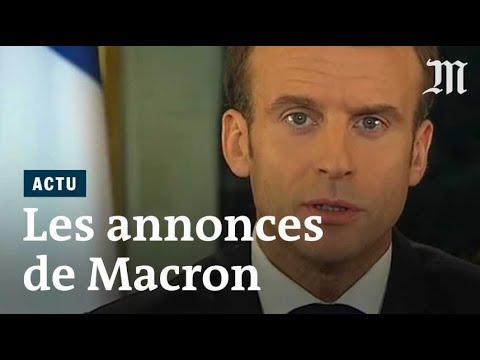 Le discours d'Emmanuel Macron en réponse aux «gilets jaunes»