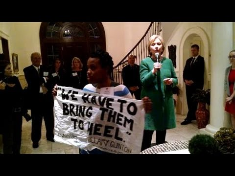 Black Lives Matter Activist Crashes Clinton Event