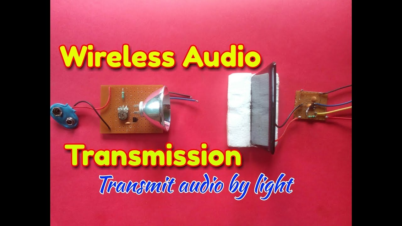 Wireless Audio Transmitter And Receiver Circuittransmit Fiber Optic Cable With Transmission Electronic Circuits Wirelessly By Lightsimple Circuit