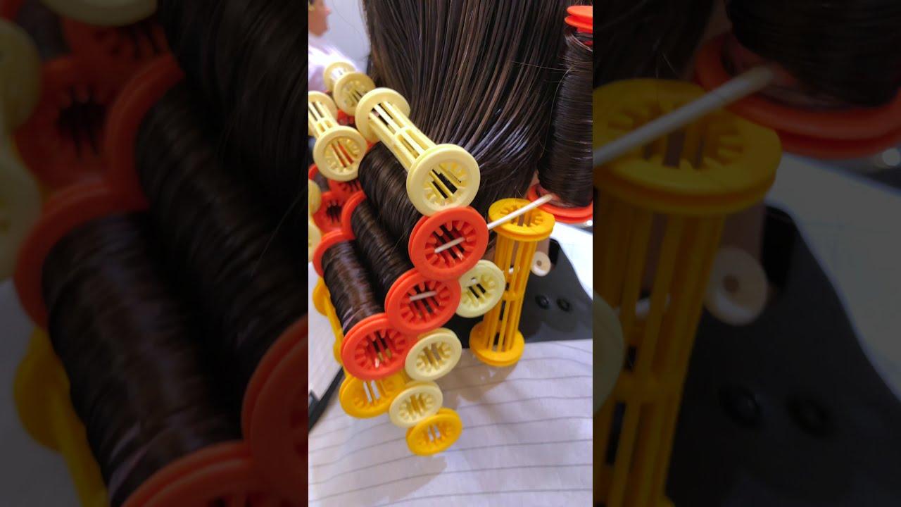 Химическая завивка локонами на концы волос