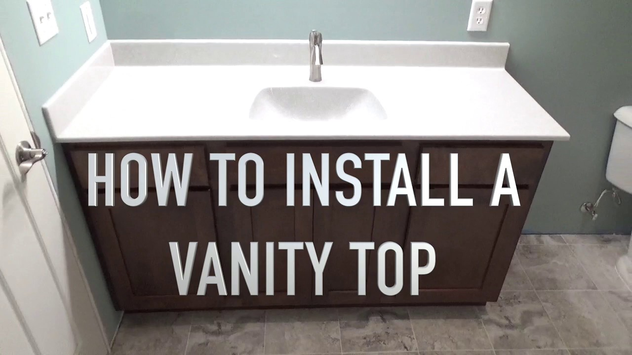 How To Install A Vanity Top Onyx Sink