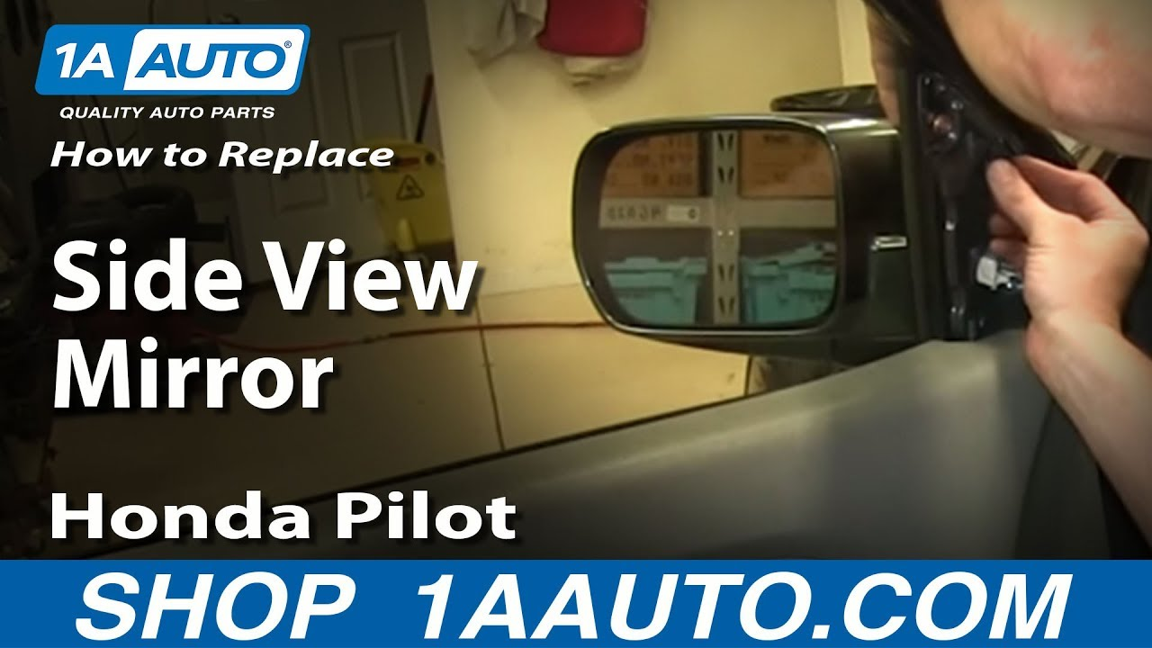 How to Replace Side Mirror 0308 Honda Pilot  YouTube