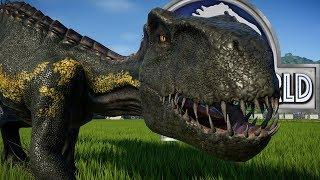 Индораптор против Сильнейшего Гибрида Jurassic World The Game