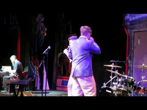 Sound check, Hungry Like the Wolf -- David Rees and John Roderick at karaoke on JoCo Cruise Crazy 3