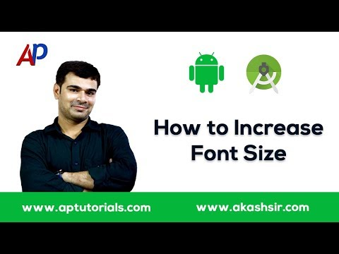 How to Increase Font Size in Android Studio