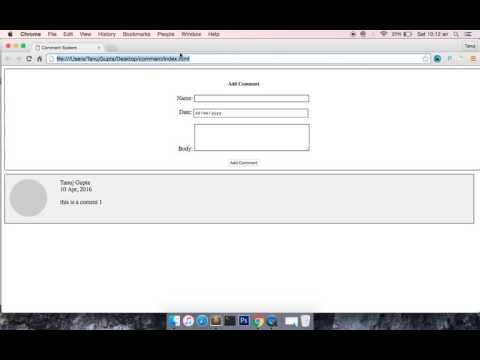 Localstorage HTML5 API to store comment   Part 4