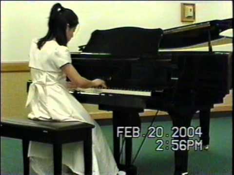 Tiffany Kuo, 13, plays at US Open Music Competition, 2004
