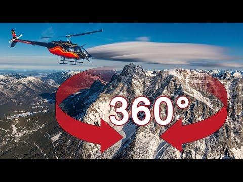 360° Video Zugspitze Hubschrauberflug