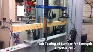 Lumber Testing 10 4 12