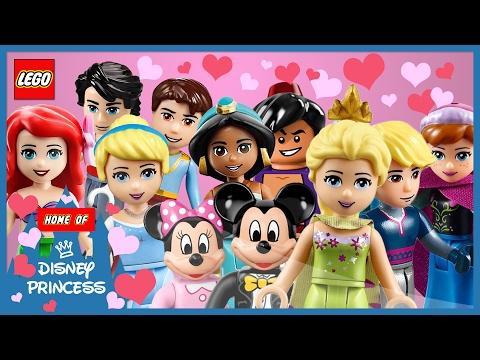 ♥ LEGO Disney Princess VALENTINE'S DAY Compilation Most Romantic Moments (Belle, Ariel, Rapunzel..)