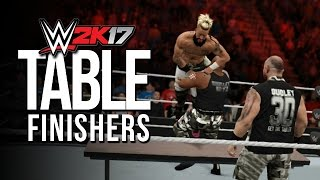 WWE 2K17: ALL TABLE FINISHERS! | #WWE2K17
