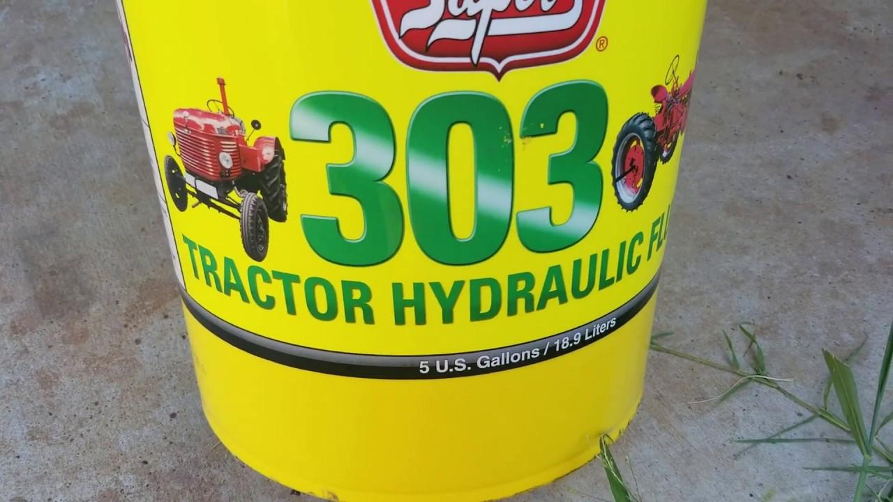 Flush motor and hydraulic oil Ford 9N 2N 8N tractor