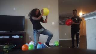 LIFEOFQUEEE | Balloon Pop Challenge |  ft My Little Brother