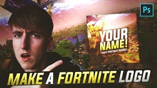 How To Make A Fortnite Logo/Profile Picture in Photoshop! + FREE TEMPLATE