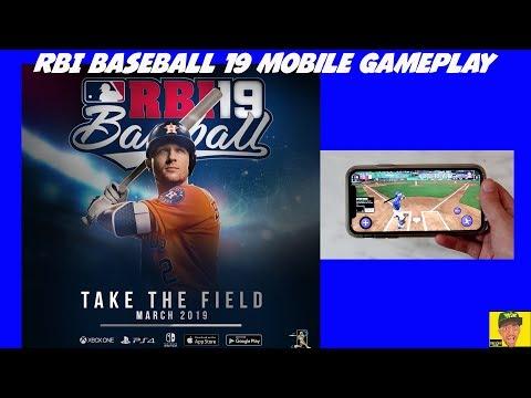 RBI Baseball 19 (iOS mobile) Gameplay