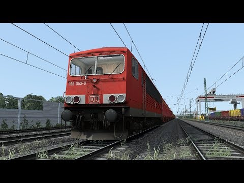 Train Simulator Cologne(Köln) - Koblenz Scenario Pack 1: DB BR155 - 5: Containers to Andernach
