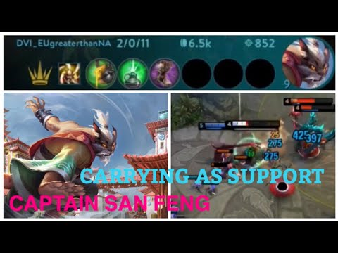 CARRYING AS SUPPORT WITH CAPTAIN SAN FENG - VAINGLORY 5V5 RANKED TIPS