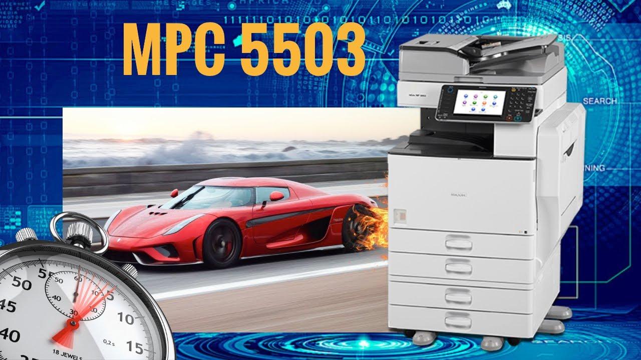 Speed Test Copier RICOH MPC5503