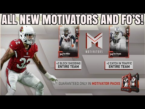 ALL NEW MOTIVATORS AND FOOTBALL OUTSIDERS! BOOST YOUR TEAM! | MADDEN 18 ULTIMATE TEAM