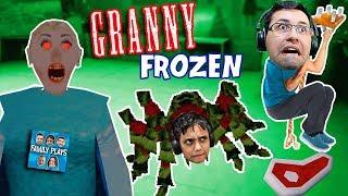 GRANNY É FROZEN ELSA NO NATAL (Viramos Aranha da Granny) Family Plays