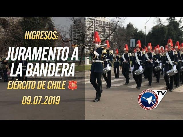 Ingresos Juramento a la bandera, Ejército de Chile en la Escuela Militar, 9 de julio 2019 1/5