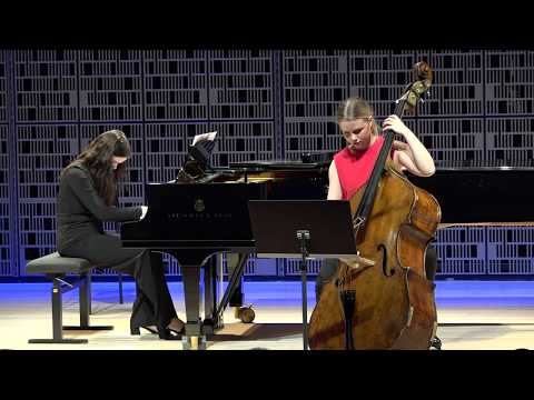 Franz Schubert: Arpeggione Sonata 1st Movement - Venla Lahti, Double Bass And Ilona Liiman, Piano