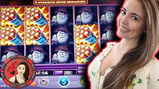 Dynamite Lock it Link feature WON first time I played Eureka Reel Blast slot machine