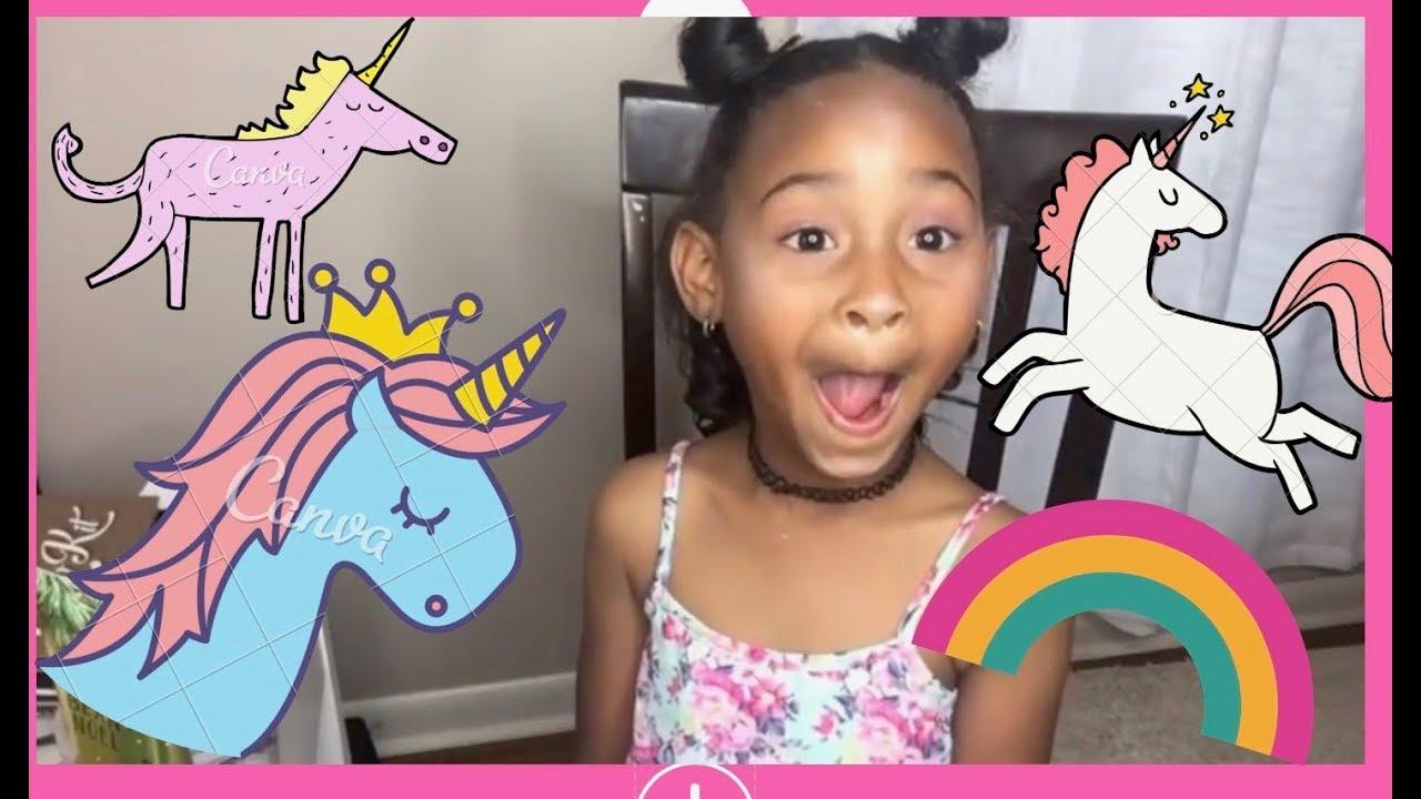 Unicorn Makeup For Kids Bailey S Unicorn Makeup Youtube