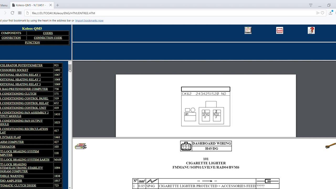 free download renault koleos samsung qm5 wiring diagrams [ 1280 x 720 Pixel ]