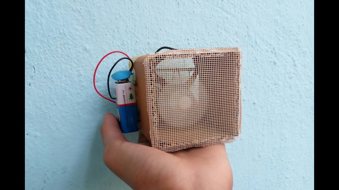 How To Make A Portable Mini Heater With 9v Battery 🔋🔋