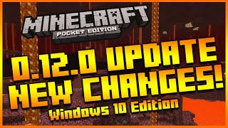 ★MINECRAFT POCKET EDITION 0.12.0 - NEW INTERFACE CHANGES + MINECRAFT WINDOWS 10 RELEASE & MORE!★