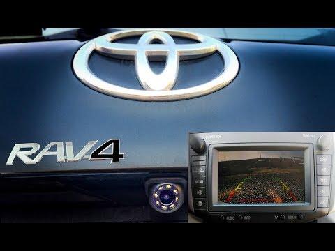 Китайская камера заднего вида на штатную магнитолу Toyota Rav 4 (2011 г.). Установка. Гараж Z