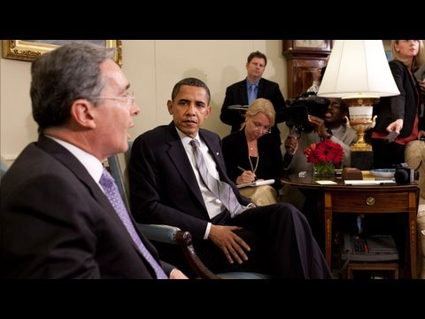 President Obama & President Uribe of Colombia Speak to Press