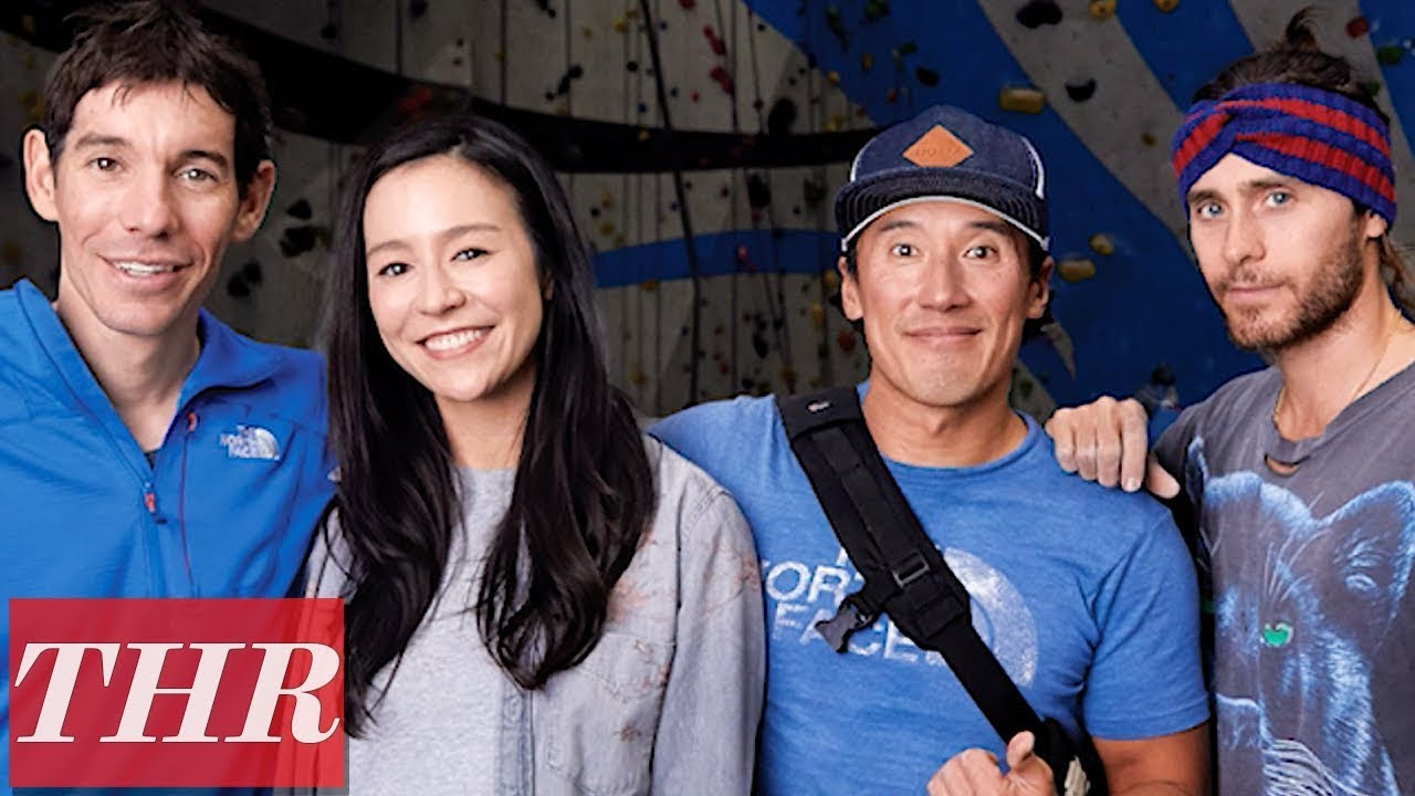 Alex Honnold & Jared Leto Rock Wall Photoshoot with 'Free Solo' Co-Director Jimmy Chin | THR