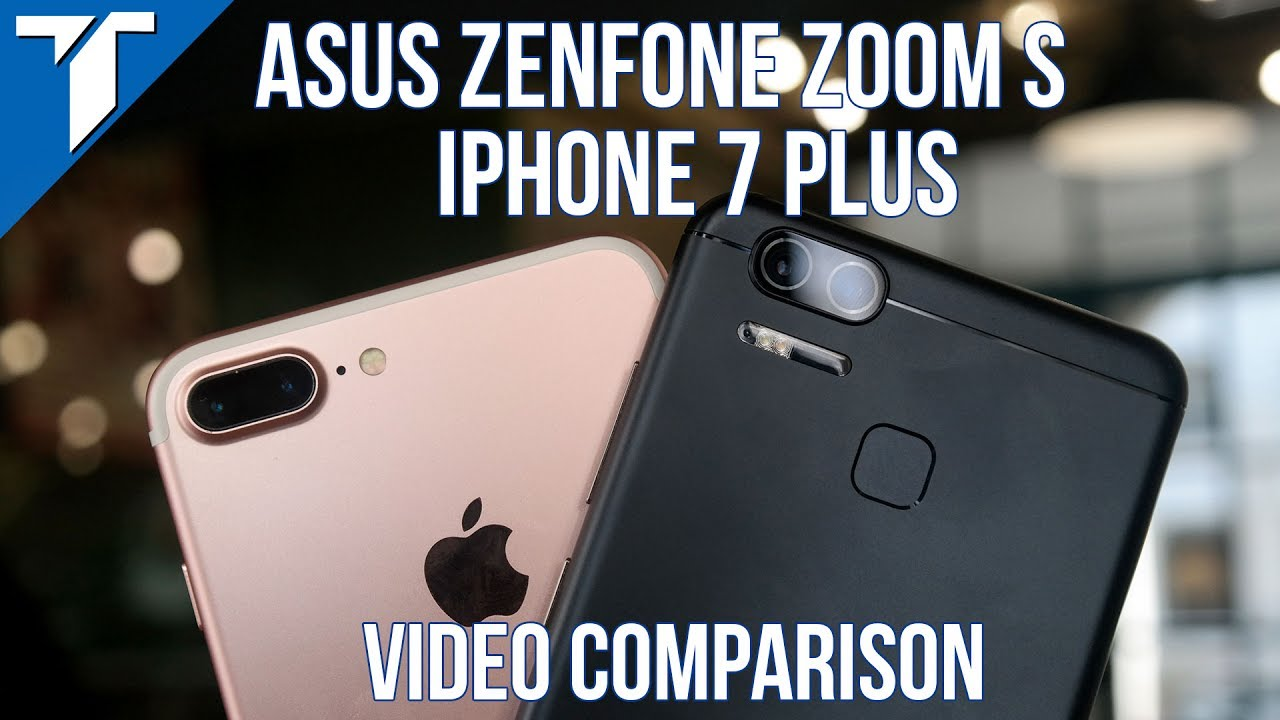 Asus Zenfone 3 Zoom S Vs IPhone 7 Plus Comparison Review English Subtitle