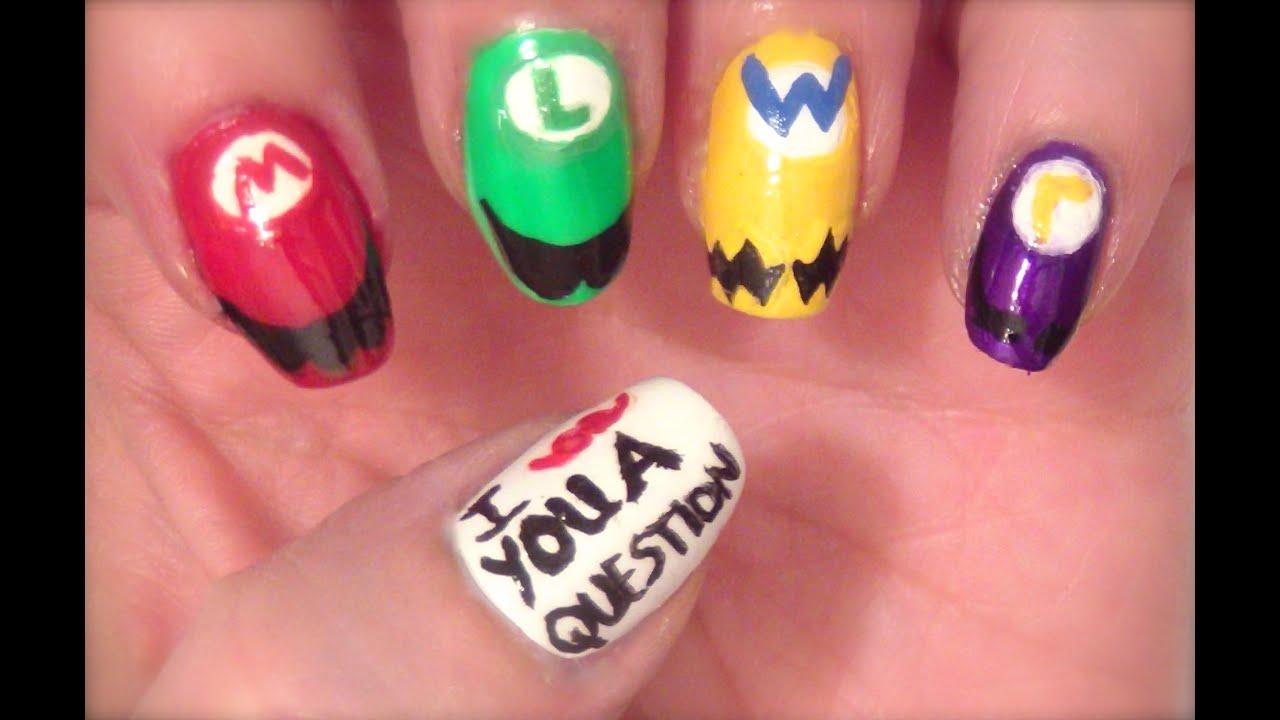 Fandom Friday: Super Mario Brothers Nail Art #WNAC2015 - YouTube