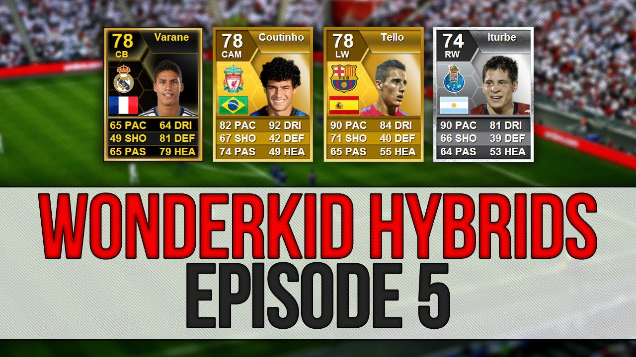 Fifa 13 ultimate team wonderkid hybrids if varane, coutinho.