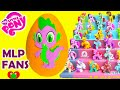 My Little Pony Spike Play Doh Surprise Egg with Cutie Mark Magic Pinkie Pie
