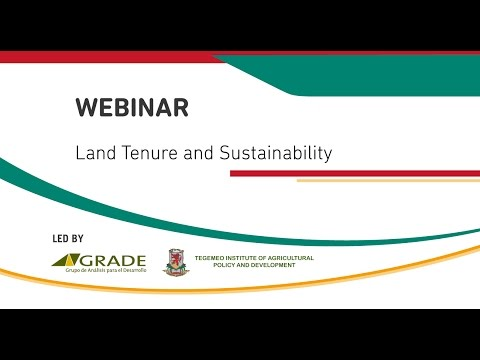 WEBINAR: Land tenure and sustainability