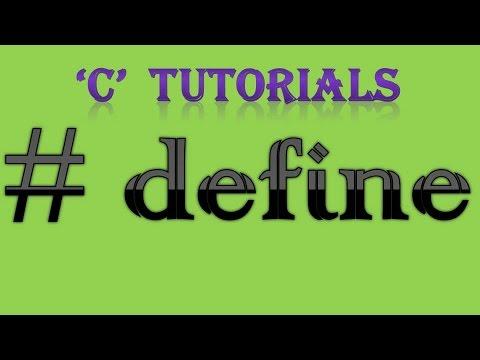 C Programming Tutorial 16 Define Preprocessor Youtube