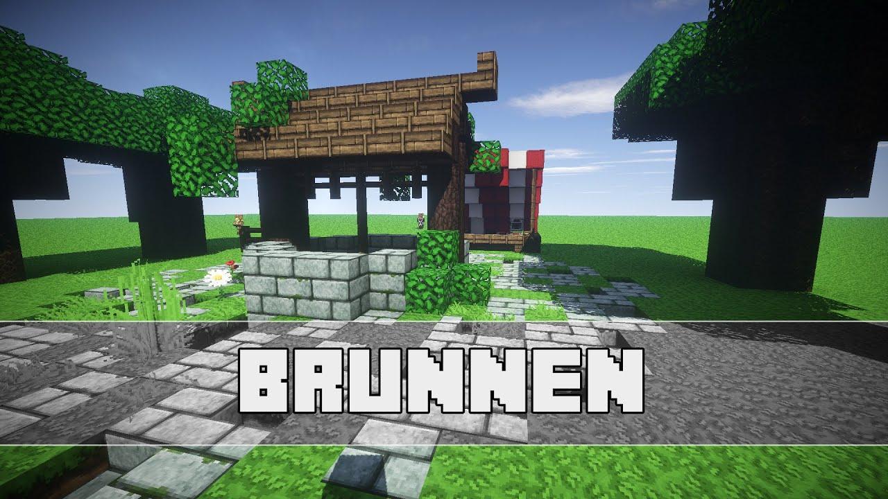 Mittelalterlicher Brunnen Minecraft Tutorial Hd German Youtube