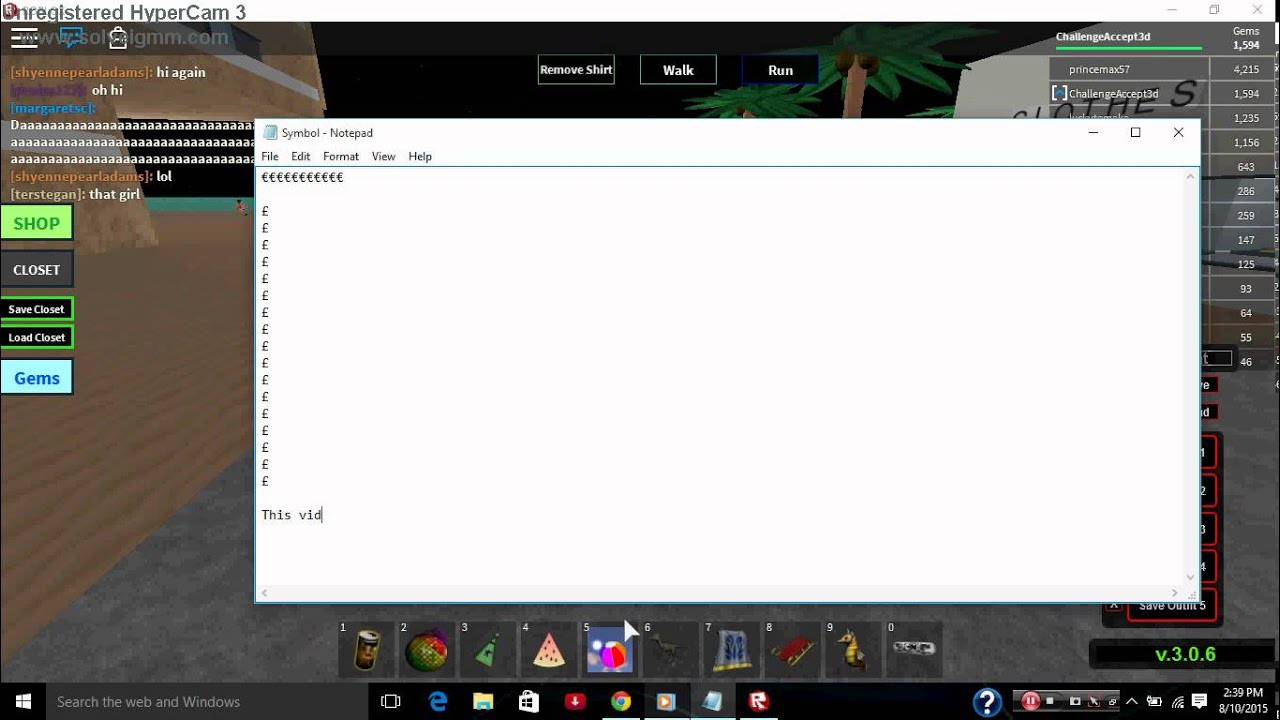 Roblox Turorial How To Clear The Chat Some What Patched Read