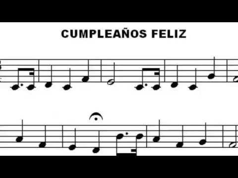 Partitura cumplea os feliz para piano youtube - Cumpleanos feliz piano ...