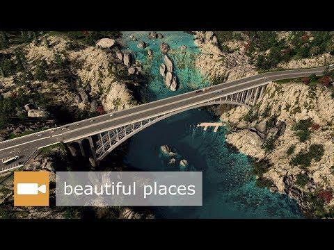 Cities: Skylines - BRIDGE IN BEAUTIFUL LANDSCAPE