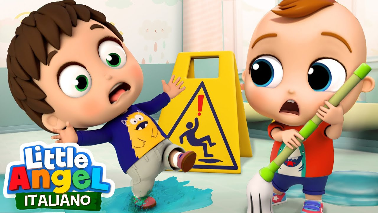 Come Evitare i Pericoli a Scuola🚍👫🏻 Cartoni Animati con Gianni Piccino - Little Angel Italiano