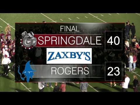 Springdale Bulldog Football | Rogers vs SHS