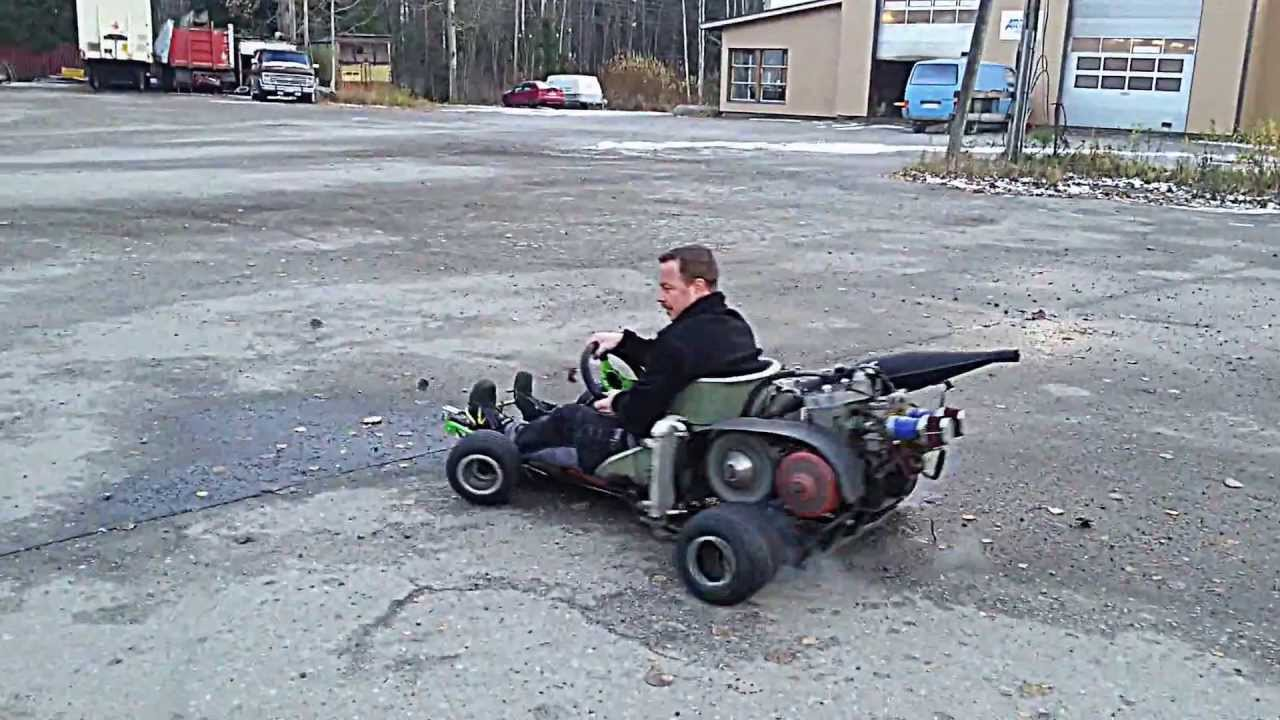 go kart with 570cc snowmobile engine part 2