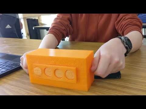 3D printer inline four engine | student project